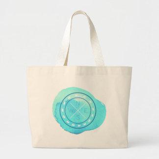 Nautical Theme in Watercolor. Large Tote Bag
