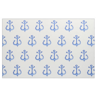 Nautical Theme | Navy Blue Anchors Wrapping Paper Fabric