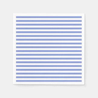 Nautical Theme - Navy Blue Striped Paper Napkins