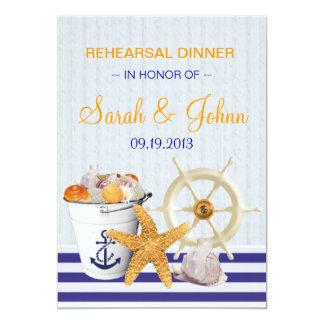 Nautical Theme   Rehearsal Dinner 13 Cm X 18 Cm Invitation Card