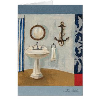 Nautical Themed Bathroom Card