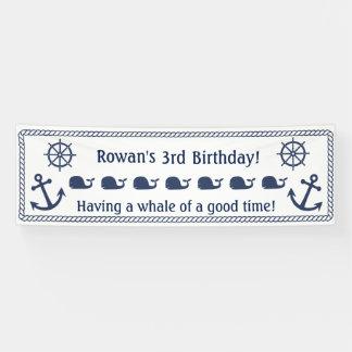 Nautical Themed Birthday Banner