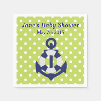 Nautical Themed Boy Baby Shower Napkins Disposable Napkins