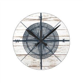 nautical themed compass round clock