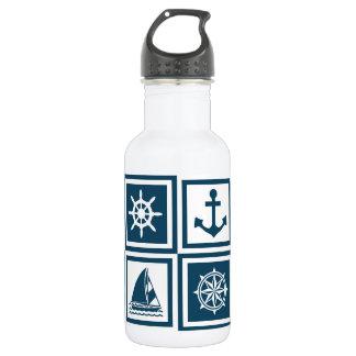 Nautical themed design 532 ml water bottle