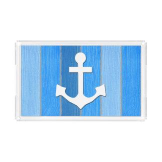 Nautical themed design acrylic tray