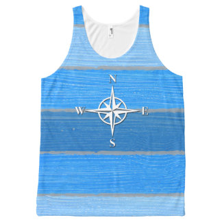 Nautical themed design All-Over print singlet