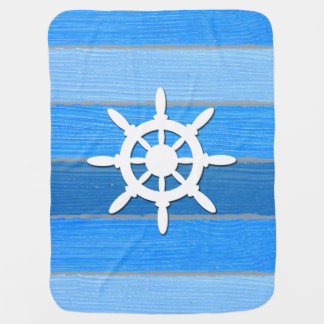 Nautical themed design baby blanket