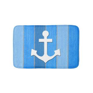 Nautical themed design bath mat