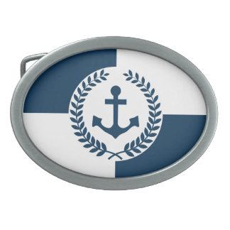 Nautical themed design belt buckle