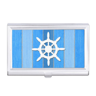 Nautical themed design business card holder