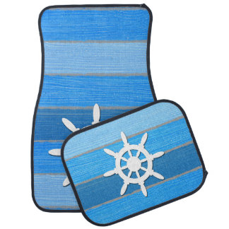 Nautical themed design car mat