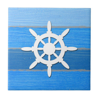 Nautical themed design ceramic tile