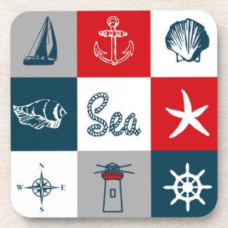 Nautical themed design coaster