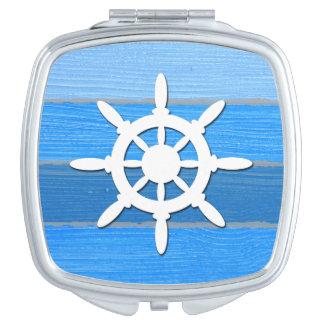 Nautical themed design compact mirror