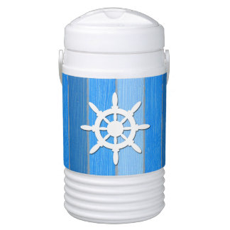 Nautical themed design cooler