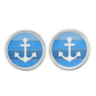 Nautical themed design cuff links