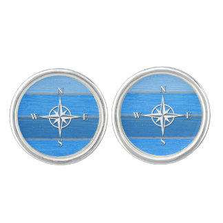 Nautical themed design cufflinks