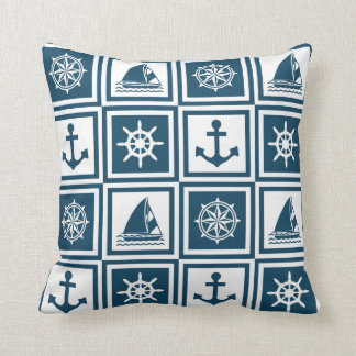 Nautical themed design cushion