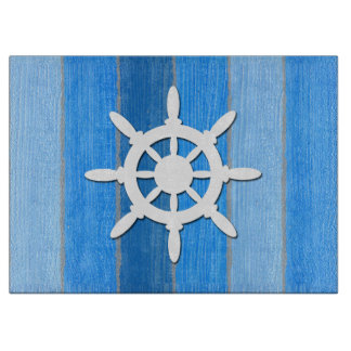 Nautical themed design cutting board