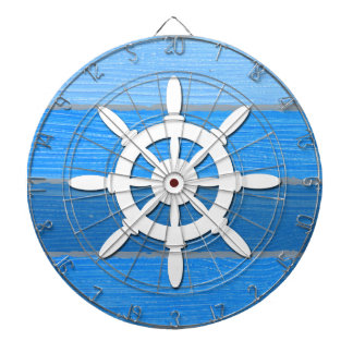 Nautical themed design dartboard
