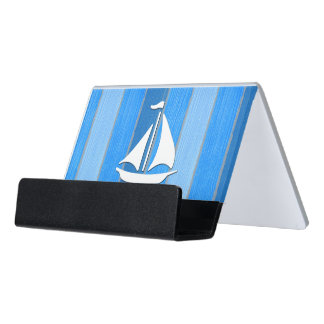 Nautical themed design desk business card holder