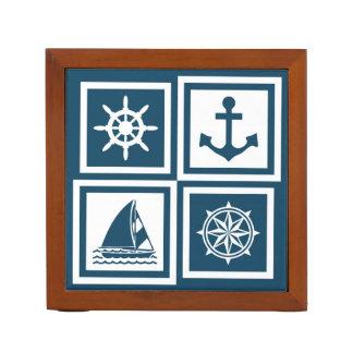 Nautical themed design desk organiser