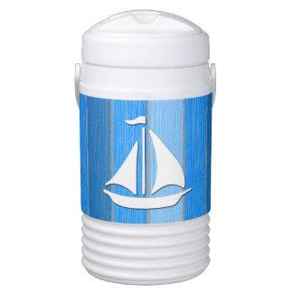 Nautical themed design drinks cooler