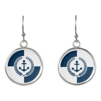 Nautical themed design earrings