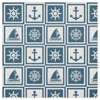 Nautical themed design fabric