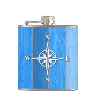 Nautical themed design flasks