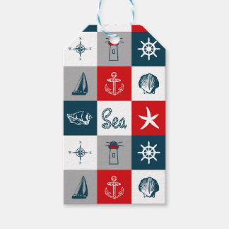 Nautical themed design gift tags