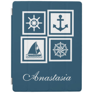 Nautical themed design iPad cover
