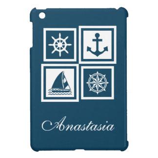 Nautical themed design iPad mini cover