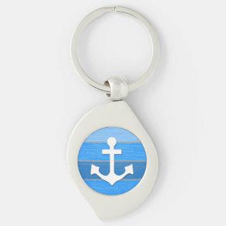 Nautical themed design key ring