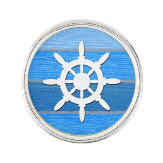 Nautical themed design lapel pin