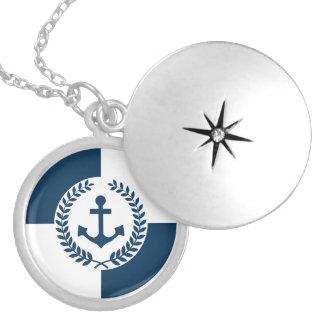 Nautical themed design locket necklace