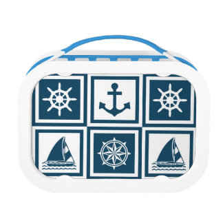 Nautical themed design lunch box
