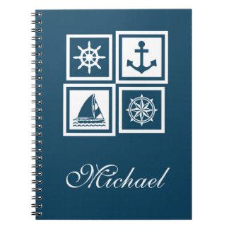 Nautical themed design notebooks
