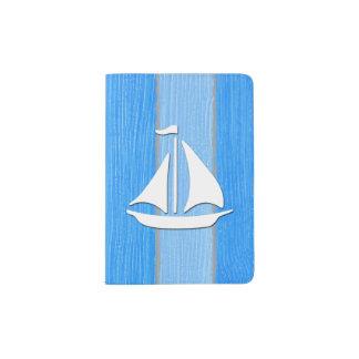 Nautical themed design passport holder