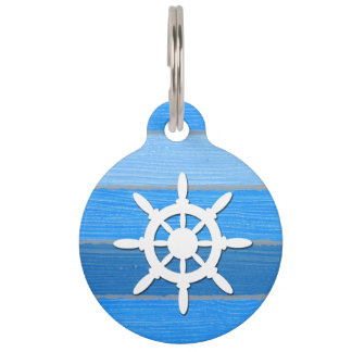 Nautical themed design pet tag
