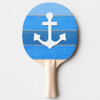 Nautical themed design ping pong paddle