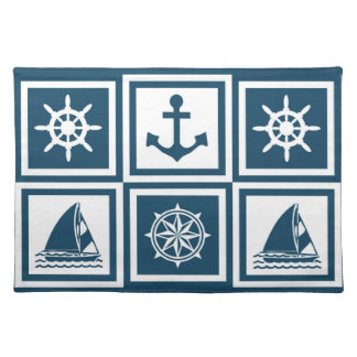 Nautical themed design placemat