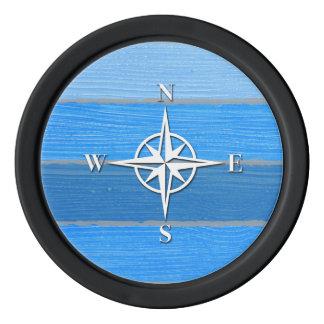 Nautical themed design poker chips