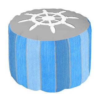 Nautical themed design pouf