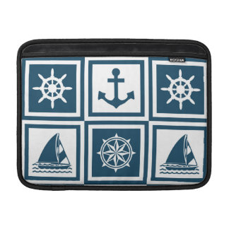 Nautical themed design sleeve for MacBook air