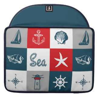 Nautical themed design sleeve for MacBooks