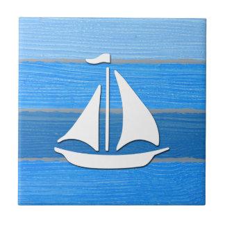 Nautical themed design small square tile