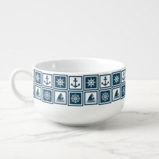 Nautical themed design soup mug