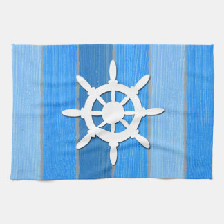 Nautical themed design tea towel